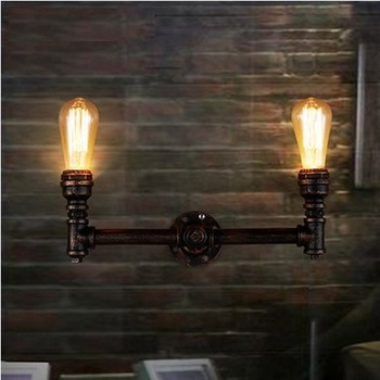Loft Style Industrial Metal Water Pipe Lamp Vintage Wall Light For Home Antique Bedside Edison Wall Sconce Indoor Lighting