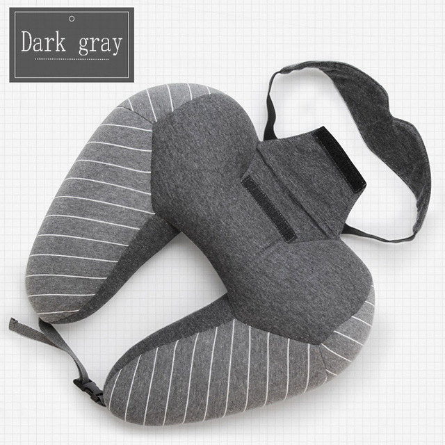 Multifunctional U-shaped Business Travel Neck Pillow and Eye Mask – Sleep in Peace