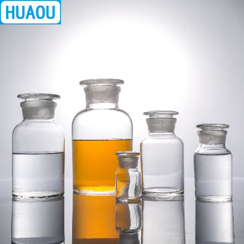 Image 3 - HUAOU 5000mL Wide Mouth Reagent Bottle 5L Transparent Clear Glass with Ground in Glass Stopper Laboratory Chemistry EquipmentLaboratory Bottle   -