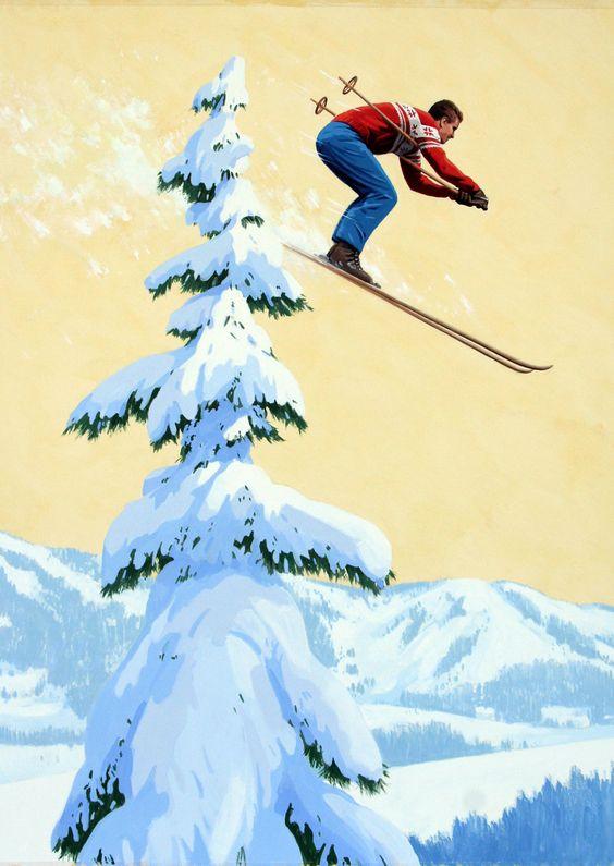 Открытка для горнолыжника, открытка