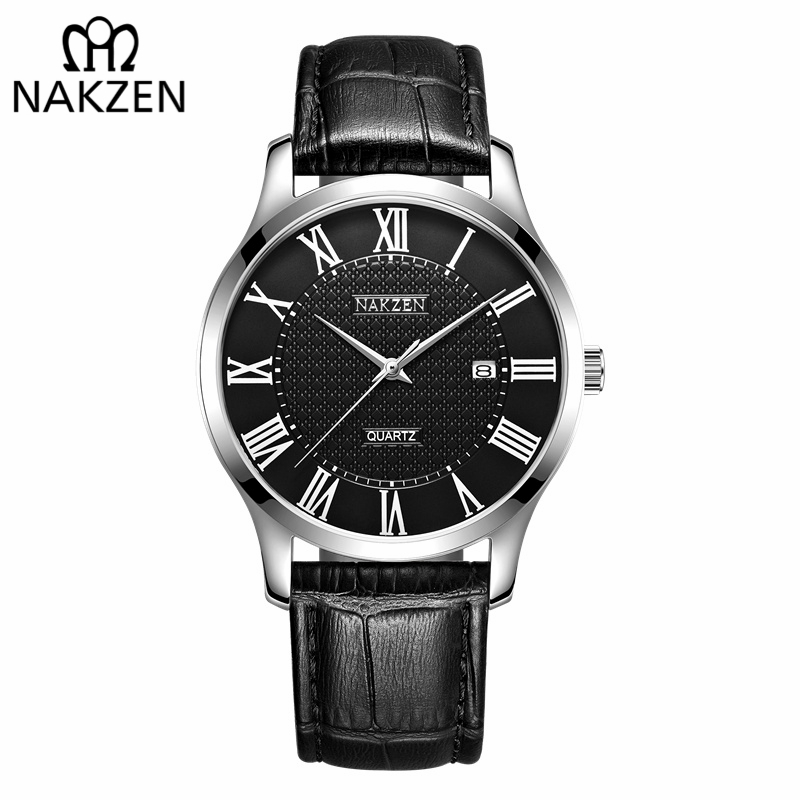 NAKZEN Brand Luxury Cool Men Quartz Watch Gentleman Retro Leather Waterproof Watches Sapphire Movement Male Dress WristwatchNAKZEN Brand Luxury Cool Men Quartz Watch Gentleman Retro Leather Waterproof Watches Sapphire Movement Male Dress Wristwatch