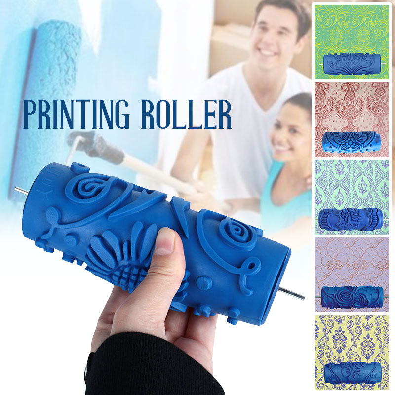 Decoration Home Roller Brushes Wall Painting Tool Paint Brush Durable Rubber Wallpaper Appropriative Rolling Various Patterns