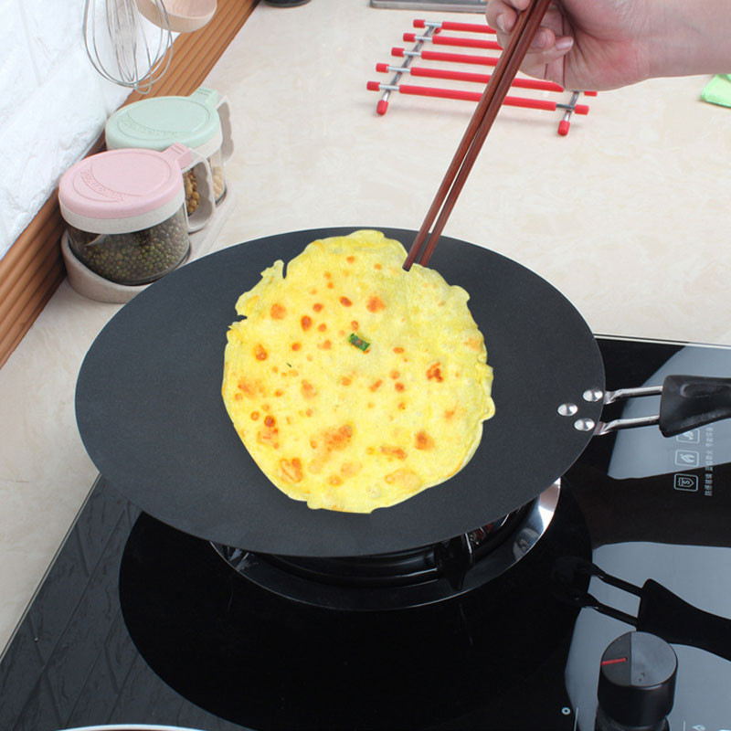 30cm Non-stick Grill Pans Kitchen Griddle Pan Cast Iron Omelet Crepe Pan Round Cookware For Induction And Gas Stove 209