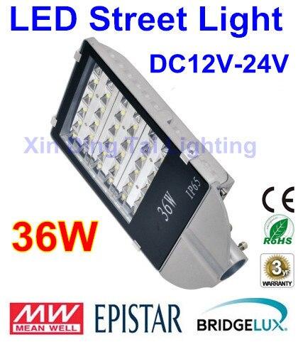 DC12V 24V 36W уличный свет Открытый водонепроницаемый IP65 дорожный свет 36W Светодиодный уличный фонарь для системы питания постоянного тока