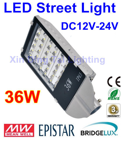 DC12V 24V 36W led street light outdoor waterproof IP65 road light 36W LED street lamp for DC power supply system dc12v 24v 36w led street light outdoor waterproof ip65 road light 36w led street lamp for dc power supply system