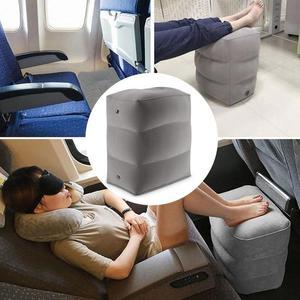 Image 4 - Almohada inflable de 3 capas para reposapiés de viaje, reposapiés para coche, cojín ecológico para coche y avión