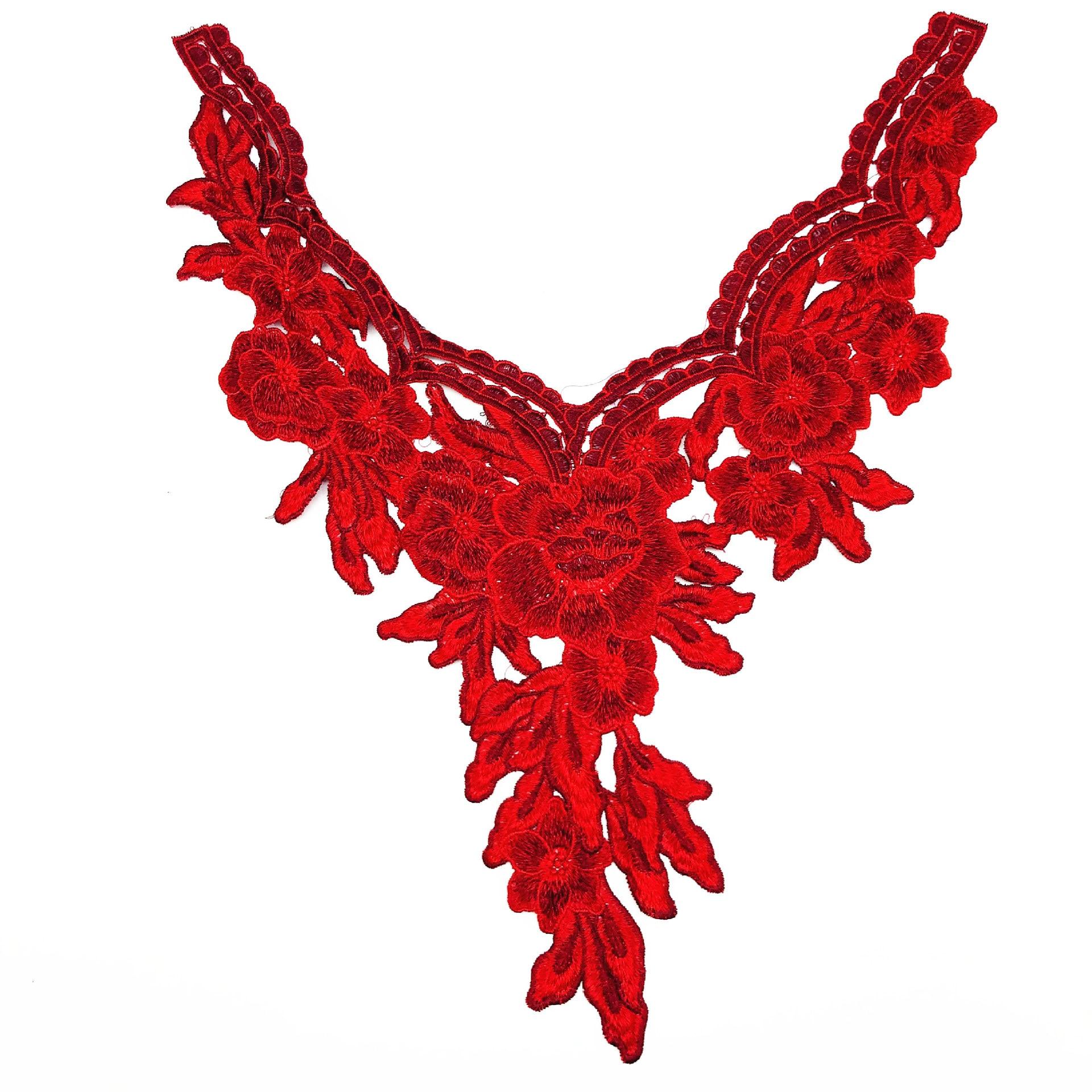DIY Sewing Dresses Flower Applique Collar Applique DIY Decoration Accessories 3d Flower Patches  Water Soluble