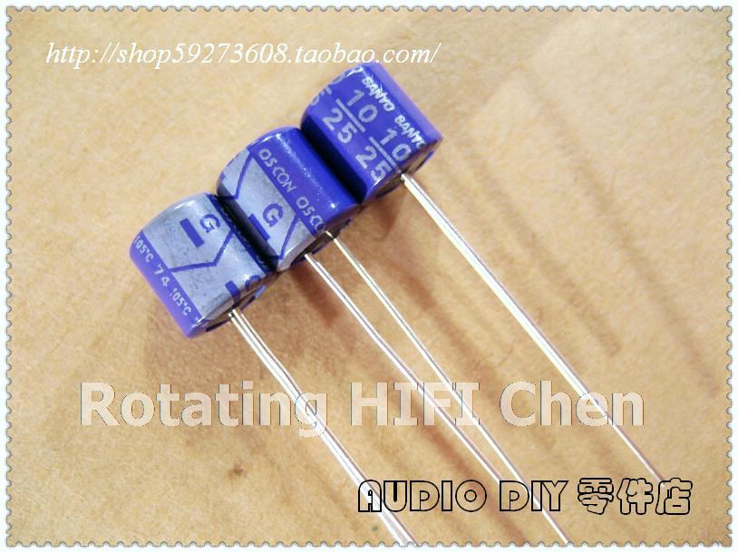 SANYO OS 25V 10UF AUDIO Grade Electrolytic Capacitors 10 pcs// 20 pcs //50pcs