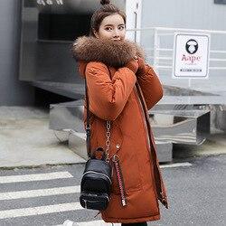 2019 Winter Jacket Women Fur Hooded Parka Long Coats embroidery Cotton Padded Winter Coat Women Warm Thicken Jaqueta Feminina 3
