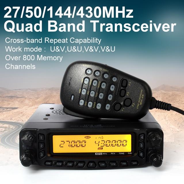 27/50/144/430Mhz 50w VHF UHF Quad Band Mobile Radio HF Transceiver 27Mhz CB Radio
