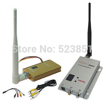 Professional 1.2GHz 3000m Long Range CCTV Video Transmitter and Receiver with 8 channels Wireless Audio and Video Sender
