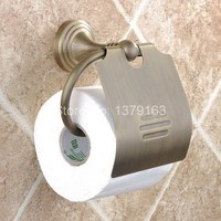 Bathroom Accessory Antique Brass Wall Mounted Copper Toilet Paper Roll Holder Modern! aba029
