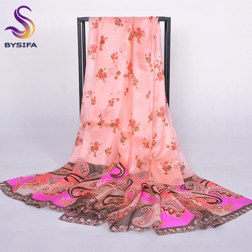 Fashion Women Silk   Scarf     Wraps   Spring Autumn Winter 100% Mulberry Silk   Scarves   Broadened 2014 Plus Size Orange Pink   Scarf   Shawl