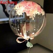 10/18/24/36 นิ้วBoboบอลลูนฮีเลียมCLEARไม่มีริ้วรอยโปร่งใสInflatableบอลลูนงานแต่งงานวันเกิดตกแต่งGlobos