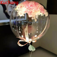 10/18/24/36 inch Bobo Balloon Helium Clear No Wrinkle Transparent Inflatable Balloons Wedding Birthday Party Decoration Globos