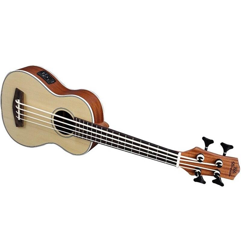 30 pouces ukulélé basse Guitarra Electrica mini guitare Instruments de musique professionnel épicéa voyage petite guitare ukelele - 5