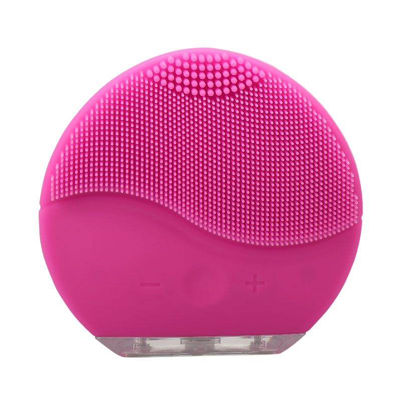 Cura della pelle! Mini elettrica pulizia del viso massaggio con spazzola di sonic volto di lavaggio macchina impermeabile del silicone viso detergente sporco rimuovere