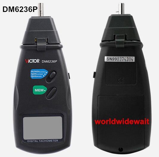 Victor DM6236P Digitale Senza Contatto Tachimetro RPM Tester Motore