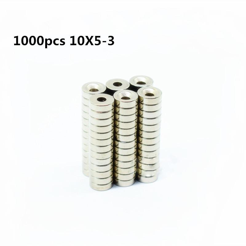 1000 sztuk 10x5 3mm okrągły stożkowy pierścień magnes 10mm x 5mm otwór 3mm ziem rzadkich magnes neodymowy 10*5 3 w Materiały magnetyczne od Majsterkowanie na AliExpress - 11.11_Double 11Singles' Day 1