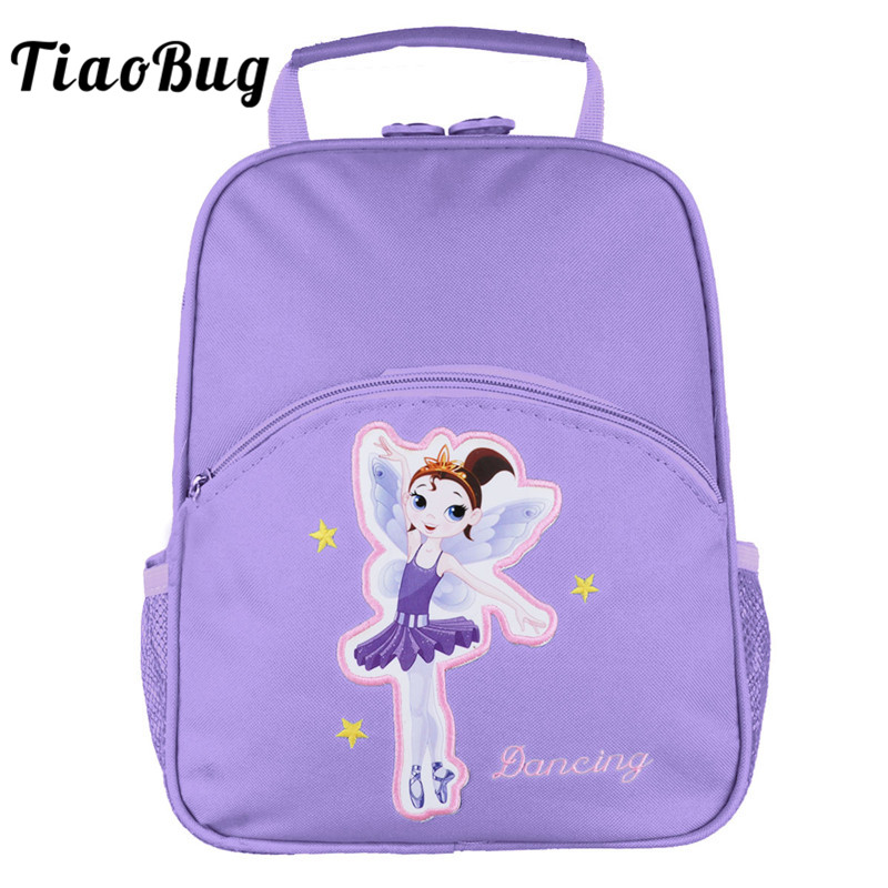 TiaoBug Cute Children Ballet Tutu Dance Bag Girls Gym Sports Backpack Embroidery Ballerina Dancing Kids School Shoulder Backpack