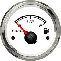 1pc 52mm fuel level gauges E 1/2 F fuel level meters 0 190ohm input signal or 240 33ohm fuel tank gauges for auto boat truck