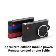 DOITOP Bluetooth Wireless Speaker Portable Camera Type Audio Subwoofer Music Player Speaker + Power bank + Remote Control Selfie