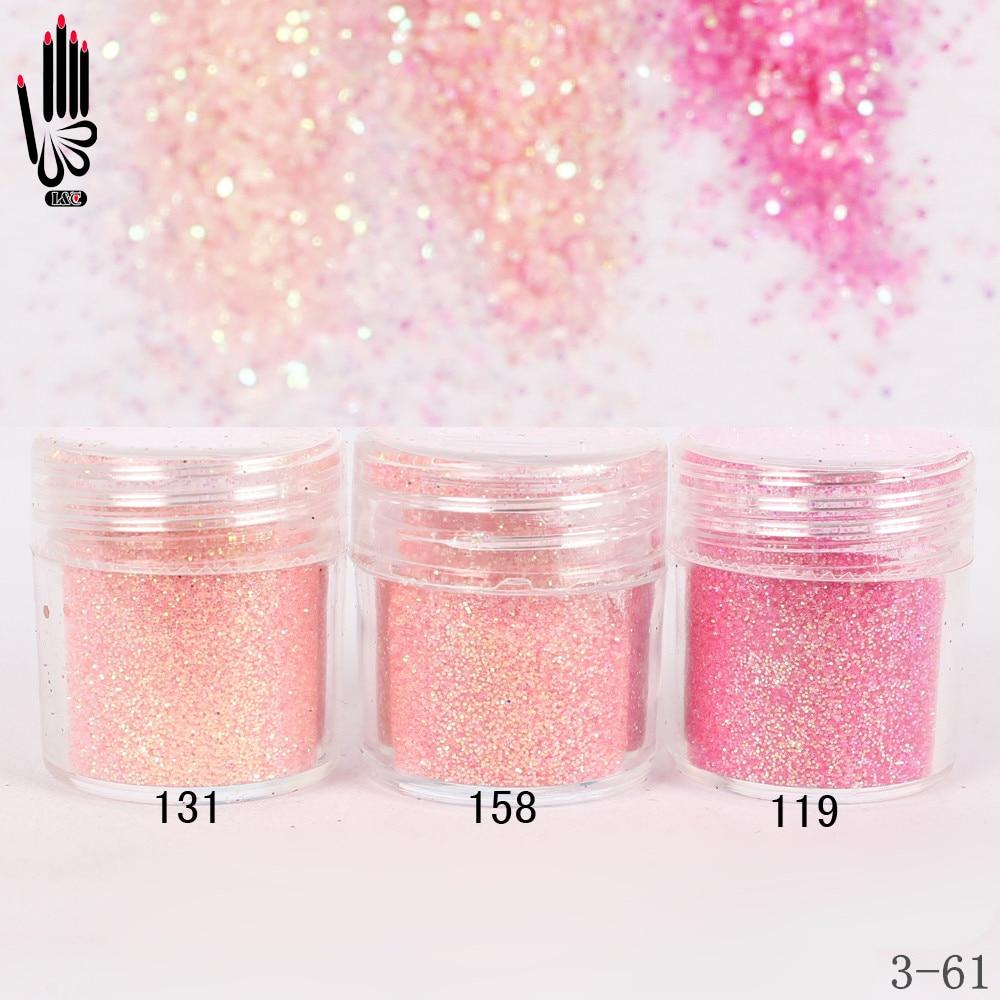 1 банка/коробка 10 мл Мода для ногтей 3 светло-розовый красный лак для ногтей тонкая пудра для украшения ногтей опционально 300 цветов завод 3-61
