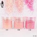 1 Jar/Box 10ml Nail Fashion 3 Light Pink Red Nail Glitter Fine Powder For Nail Art Decoration Optional 300 Colors Factory 3-61