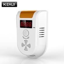 EU Plug KERUI GD11 Digital LED Display Combustible Gas Detector Alarm Independent Home Security Flash Gas LPG Sensor Detector