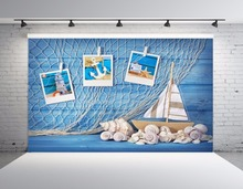 SHENGYONGBAO Vinyl   Fishing nets Photography Backdrops Prop Digital Printed Conch  Sailboat Photography Background YHSHJ-1021 idiot s guides digital photography