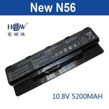 HSW 5200 мАч аккумулятор для ноутбука ASUS N46 N46V N46VJ N46VM N46VZ N56 N56D N56V N56VJ N76 N76V, A31-N56 A32-N56 A33-N56