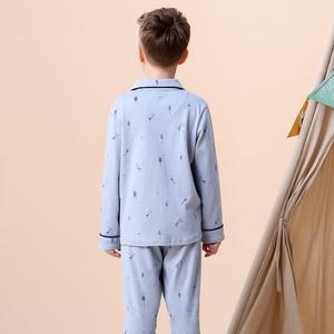 Image 3 - Kids Jongens Katoen Nachtkleding Baby Meisjes Herfst Winter Pyjama Sets Kinderen Cartoon Ondergoed Peuter Warme Slaapkamer Pyjama Pijamas
