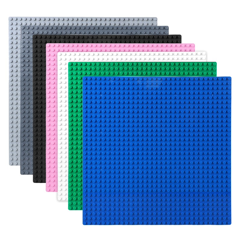 2PCS <font><b>32X32</b></font> Points Single Side <font><b>Baseplate</b></font> For Small Building Blocks 25X25CM Small Dots Classic Base Plate For Small Size Bricks image