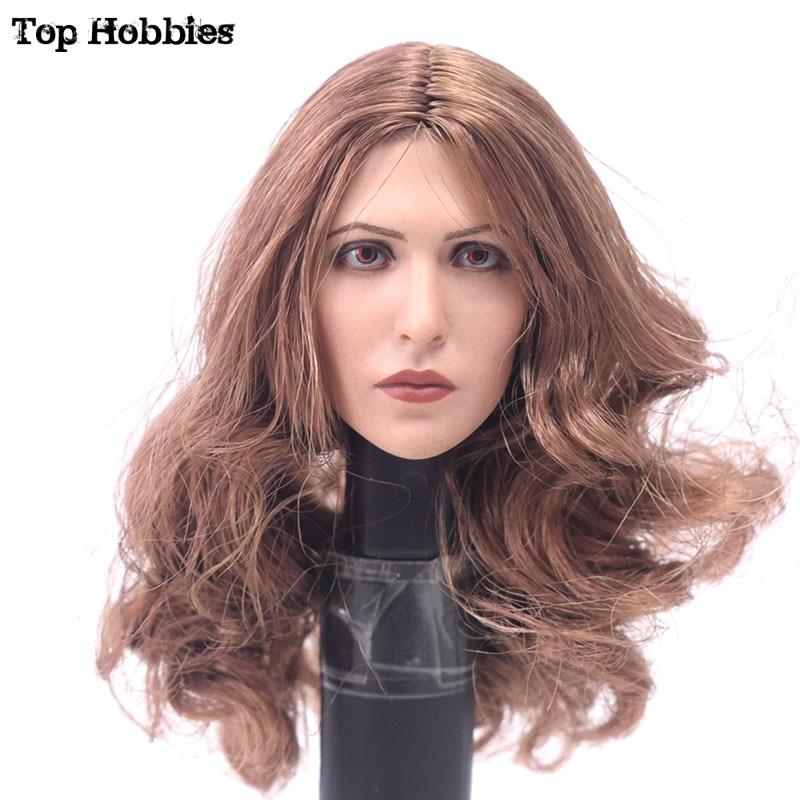 """Custom 1//6 Scarlet Witch Elizabeth Olsen Curls Head Model Toy F 12/"""" Female Body"""