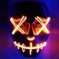 Хэллоуин маски из светодиодов одежда неон большой террор EL маски холодный свет своих фестиваль ну вечеринку светящиеся танцевальные карнавал аксессуары