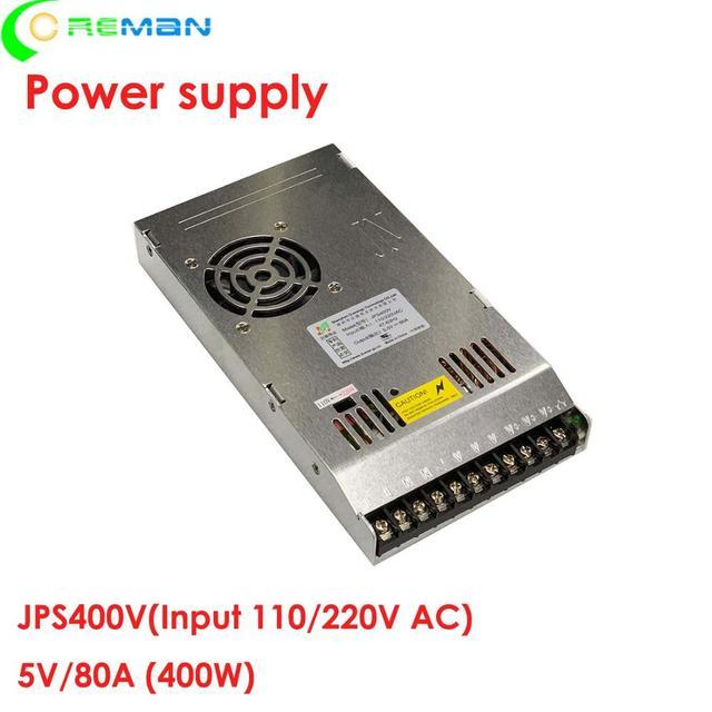 شاشة عرض ليد امدادات الطاقة 5 فولت 80A ، علامة ليد خارجي داخلي مجلس امدادات الطاقة 400 واط 5V80A 200 240 فولت مصدر كهرباء بتيار ترددي J400V5
