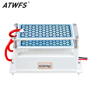 Image 1 - ATWFS Air Purifier 220V 10g/5g Ozone Generator Portable Double Integrated Long Life Ceramic Plate Ozonator Air Cleaner Ozonizer