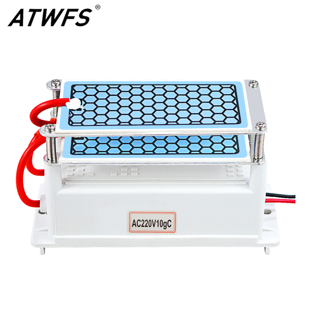ATWFS Air Purifier 220V 10g/5g Ozone Generator Portable Double Integrated Long Life Ceramic Plate Ozonator Air Cleaner Ozonizer