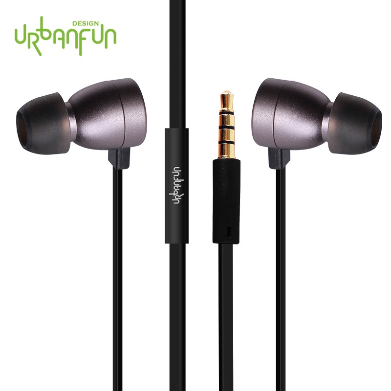URBANFUN Moving-coil Earphone Wired Control with MIC In-Ear Earphones Pro for phone/Android Phone urbanfun exclusive design hybrid 2 way earphone with beryllium diaphragm with microphone for iphone android phone
