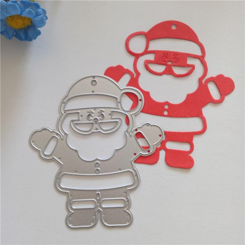 Christmas Santa Claus Cutting Dies For Diy Scrapbook Handmade Paper Craft Metal Steel Template Merry Christmas Dies 2 Pcs In Cutting Dies From Home Garden On Aliexpress