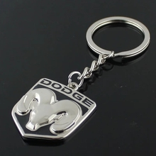 Car Styling Keychain Key Ring for dodge logo RAM 1500 Journey Caliber Caravan Challenger Charger Nitro Car Emblems Accessories