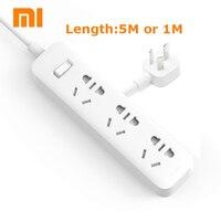 XiaoMi Power Strip 5M 1M Cable Mijia 3 Power Sockets Extension Socket Power Converter Adapter Mi