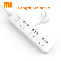 XiaoMi Power Strip 5M 1M Cable Mijia 3 Power Sockets Extension Socket Power Converter Adapter Mi