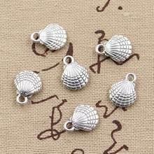 Pingente dupla face 13x10mm, pingentes de cor bronze antigo artesanal para faça você mesmo, bronze tibetano, 20 peças joias,