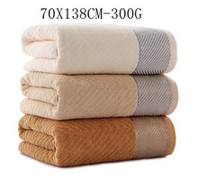Elegant quality terry velvet fabric cotton bath towel Adults large size high water-absorbent home textile beach towels