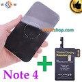 Excelente calidad n9100 kit cargador inalámbrico qi pad cargador y cargador inalámbrico qi adaptador del receptor para samsung galaxy note 4