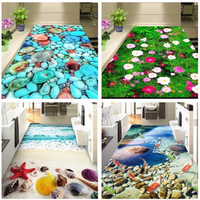 3D Bedroom Bathroom Mats Beach Hallway Mat Floor Mats Kitchen Carpets Doormats for Living Room Anti Slip Tapete Mats
