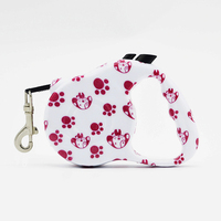 Top Quality 3M 5M Automatic Retractable Dog Leash Durable Polyester Print Small Dogs Lead Extending Puppy