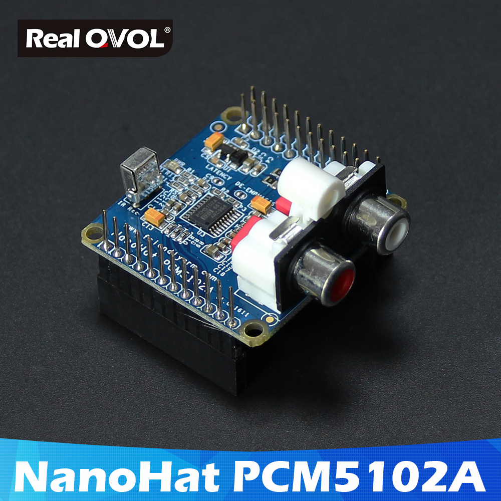 RealQvol FriendlyELEC NanoHat PCM5102A,Compatible With NanoPi NEO/NEO Air,DAC Audio Chip And NS' Low-noise,Sample Rates Is 384k