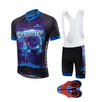 2016 Brand New FASTCUTE Grid Black Cycling Clothing Quick Dry Short Sleeve Racing Bicycle Jersey Sportwear